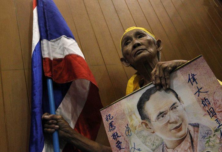 Camisas amarelas na Tailândia