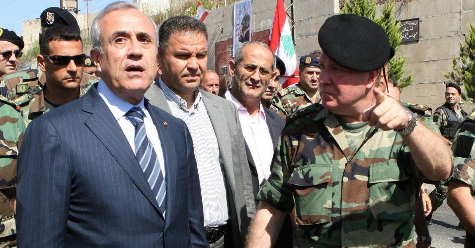 Presidente libanês visita fronteira com Israel