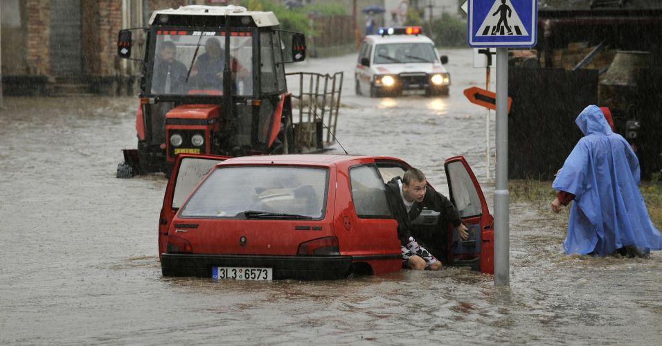Inundação do rio Nisa na República Tcheca