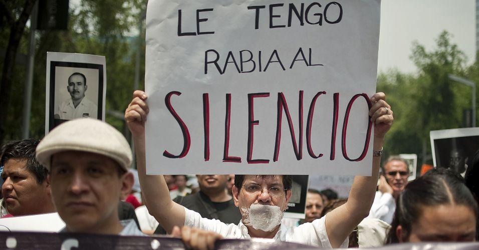 Protesto no México
