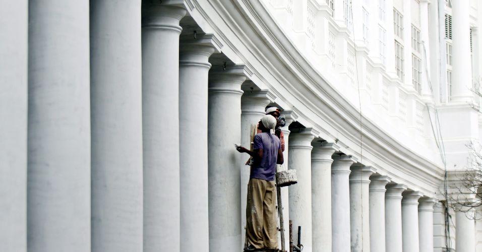 Fachada de prédio na Índia