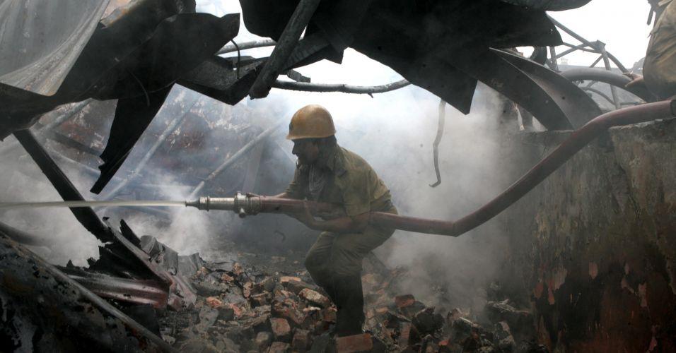 Incêndio na Índia