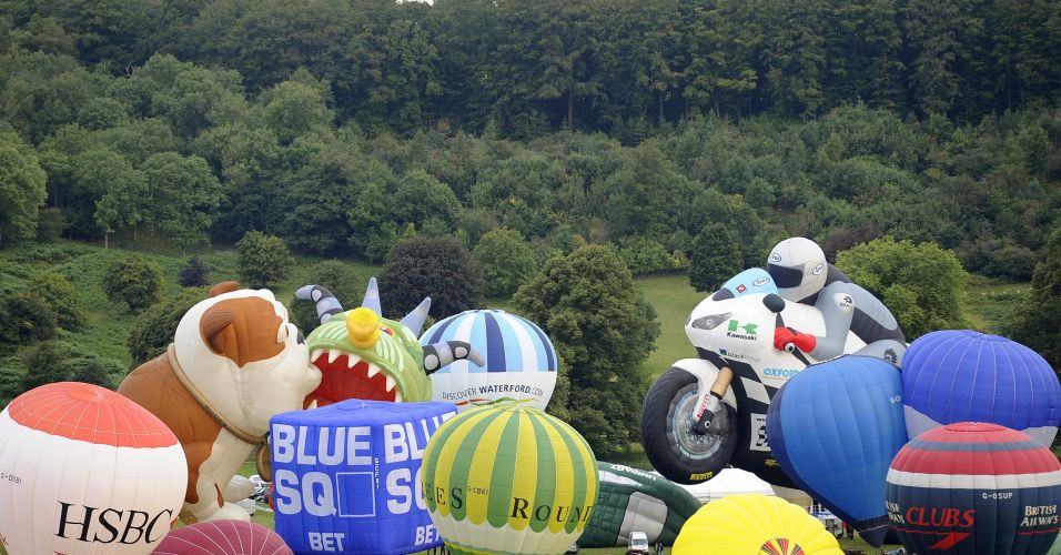 Balões no Reino Unido
