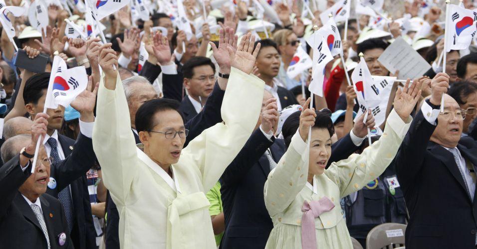 Coreia do Sul comemora independência