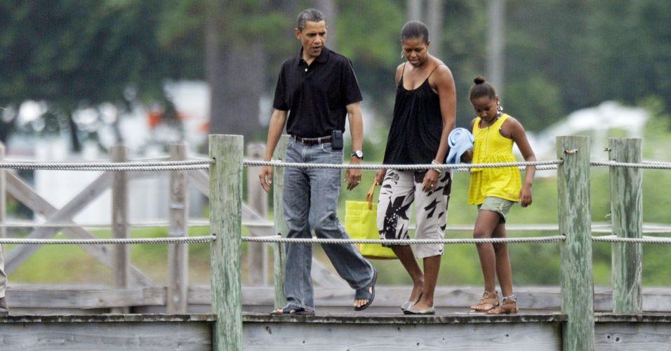 Fim de semana da família Obama