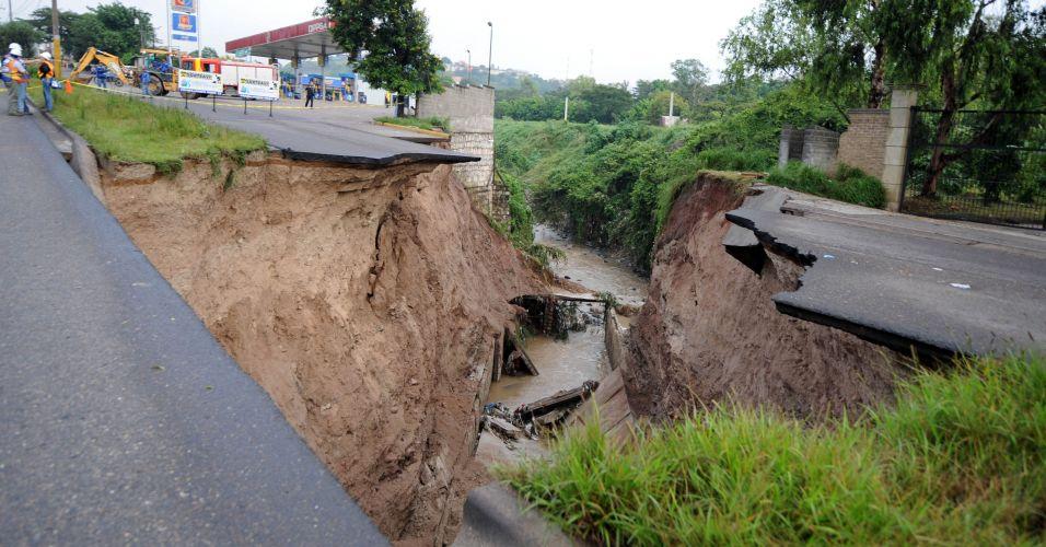 Chuva em Tegucigalpa