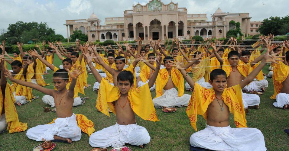 Cerimônia hindu na Índia