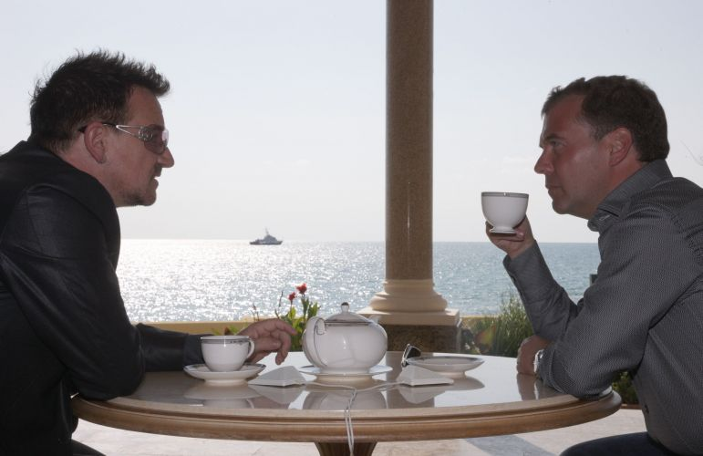 Bono e Medvedev