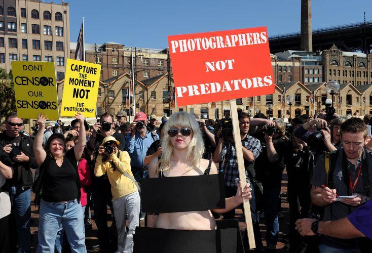 Protesto contra a censura