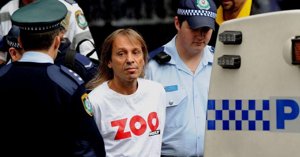 """""""Homem aranha"""" preso na Austrália"""