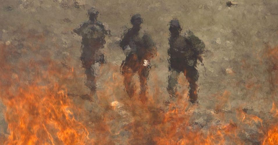 Drogas queimadas no Afeganistão