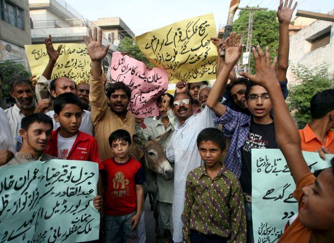 Protesto no Paquistão