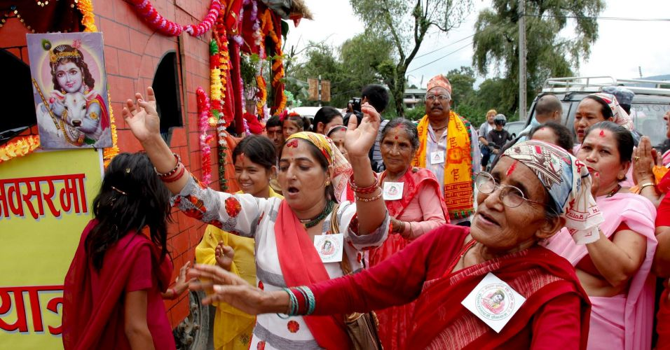 Celebração no Nepal
