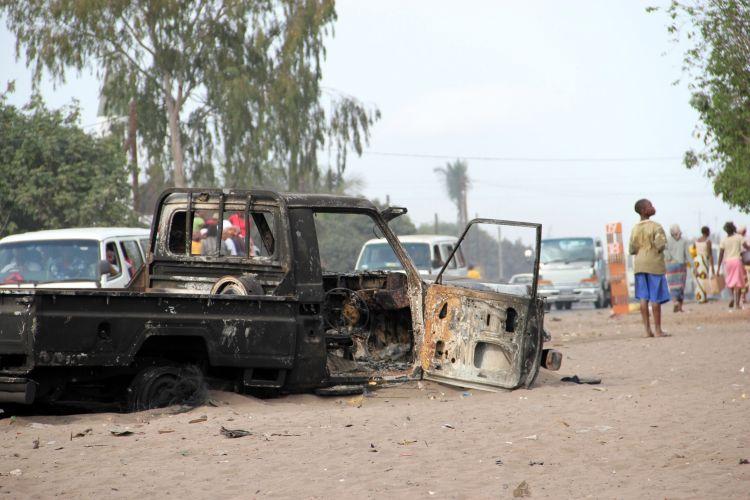Incêndio em Moçambique
