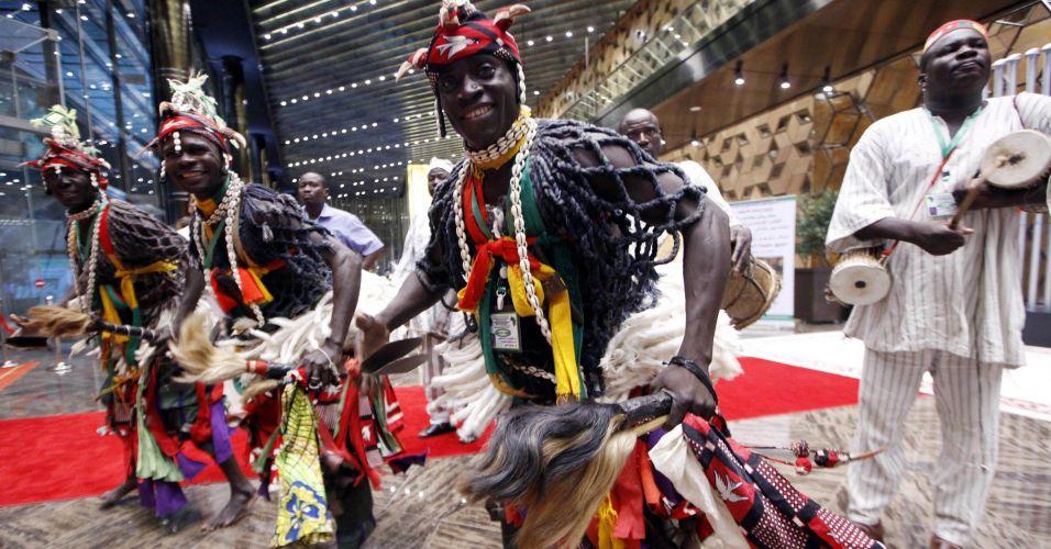 Dança típica da África
