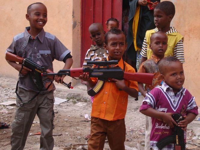 Crianças somalis