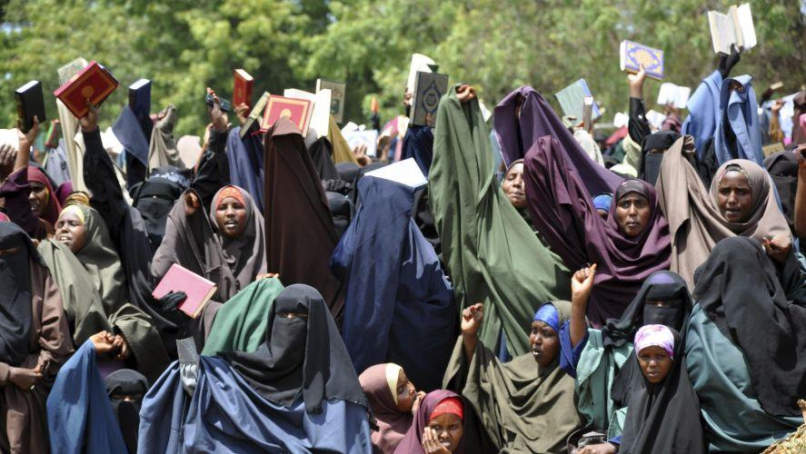 Protesto na Somália