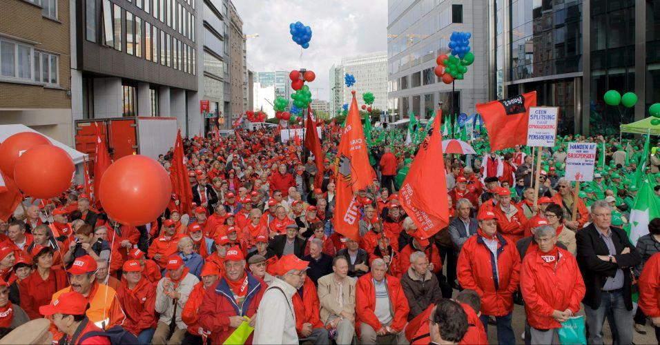 Protesto na Bélgica