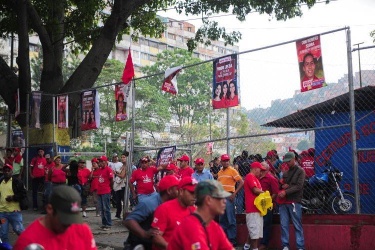 Apoiadores de Chávez na Venezuela