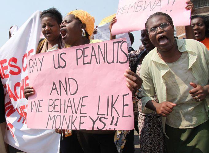 Protesto no Zimbábue