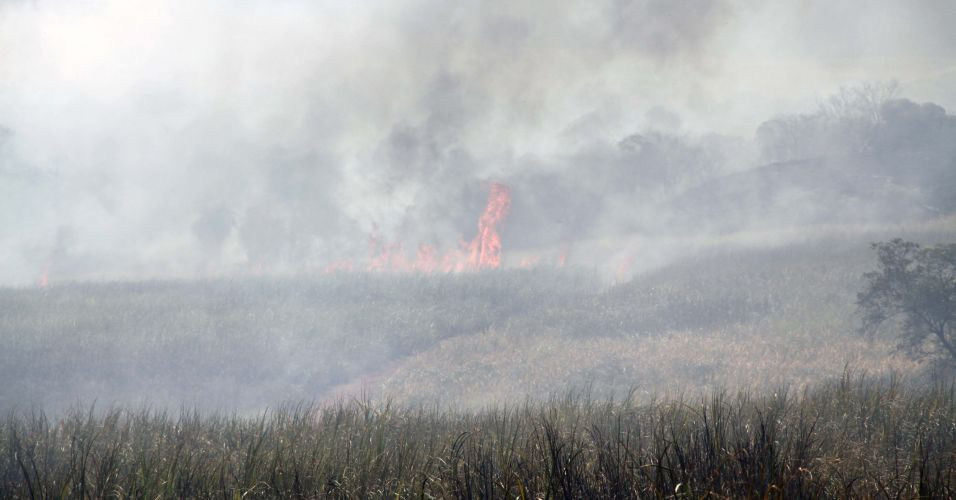 Incêndio no interior de SP