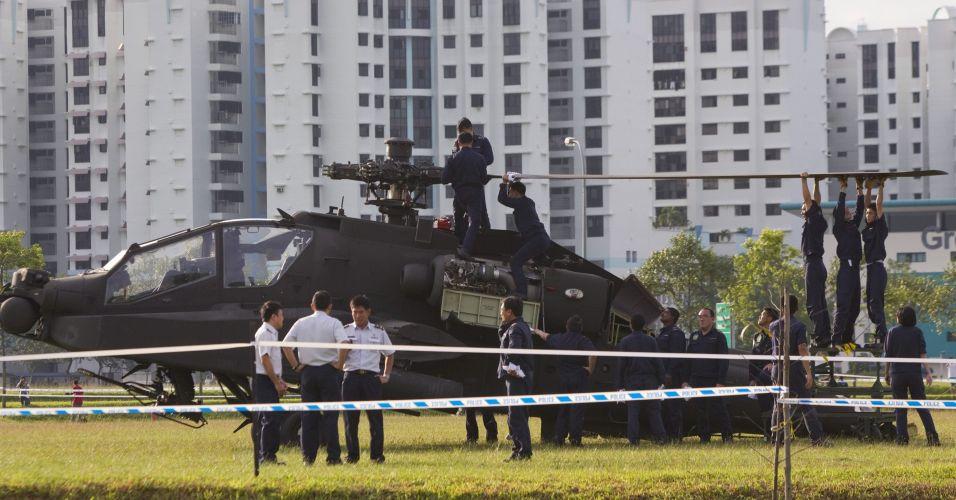 Helicóptero em Cingapura