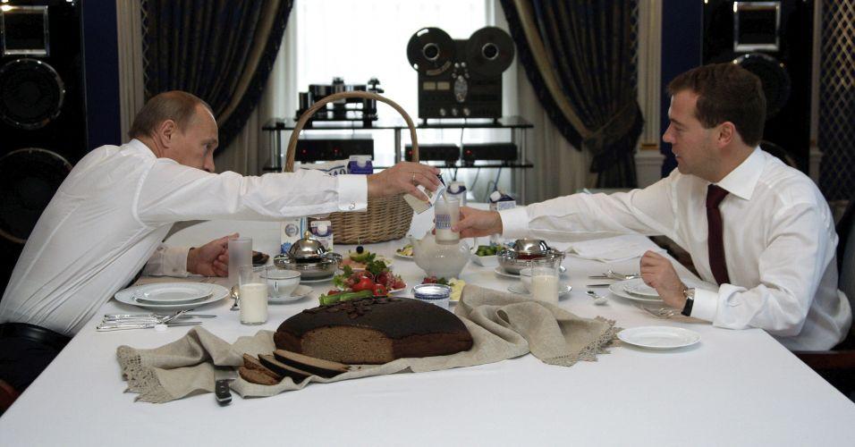 Almoço na Rússia