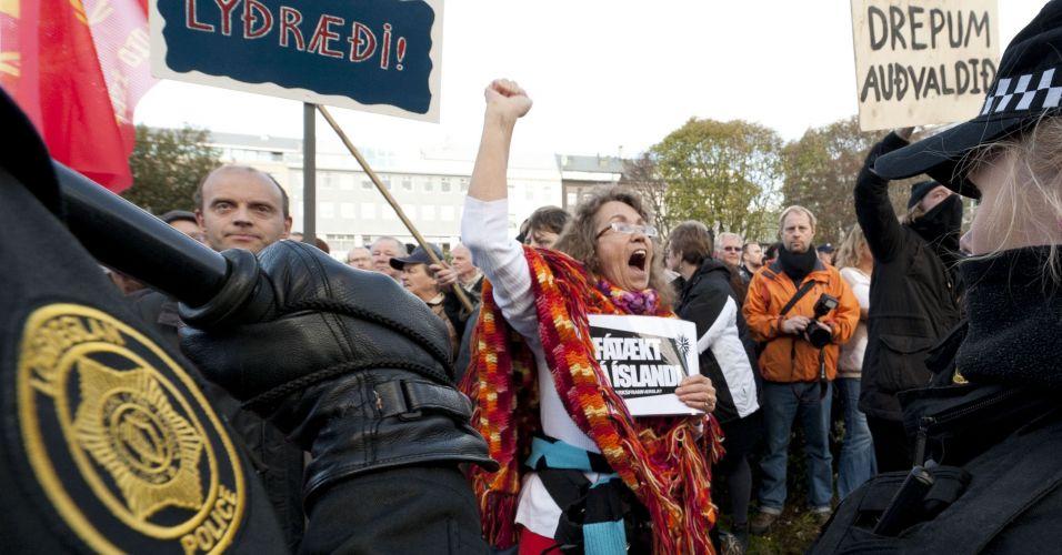 Manifestação na Islândia