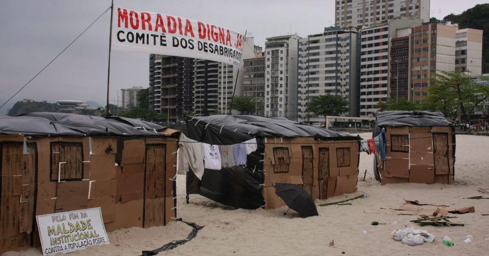 Desabrigados no Rio
