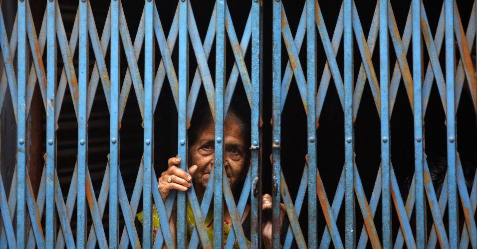 Grades de casa na Índia