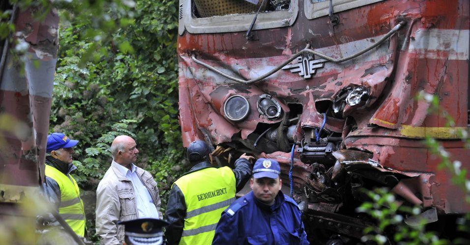 Acidente de trem na Bulgária