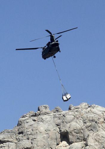 Suprimentos para soldados no Afeganistão