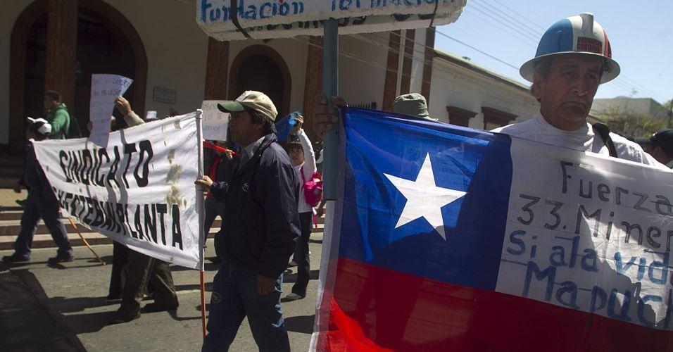 Protesto contra mineradora no Chile