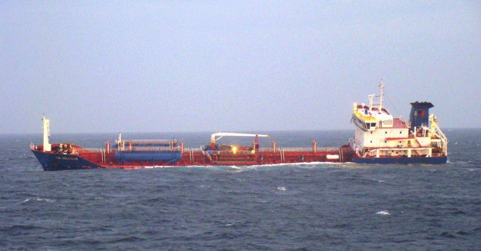 Colisão de navios no Canal da Mancha