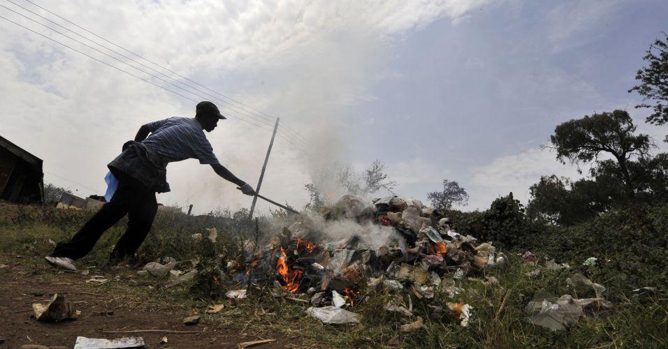 Manifestação contra o clima no Quênia