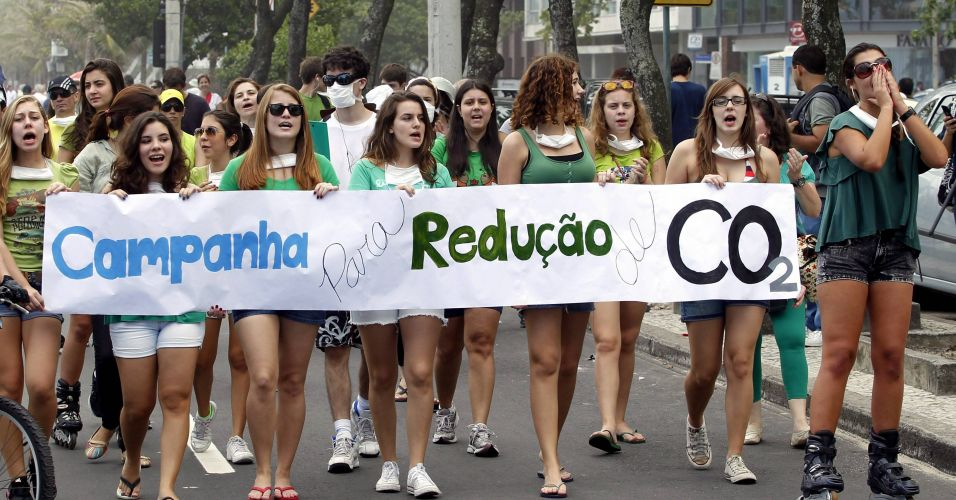 Passeata pelo redução de CO2 no Rio