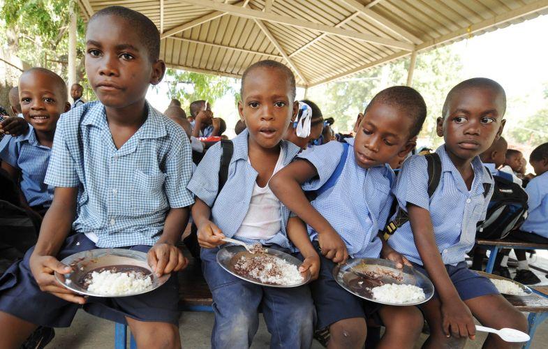 Crianças no Haiti
