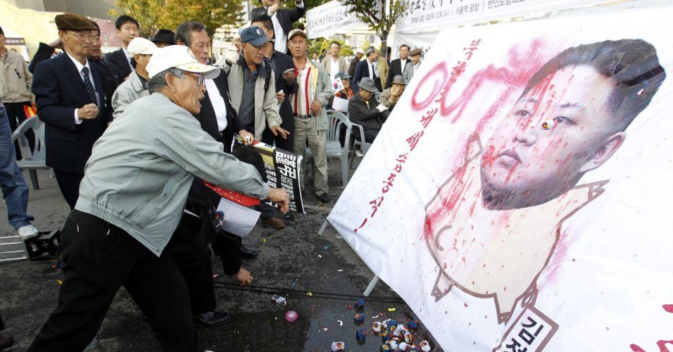 Manifestação na Coreia do Sul