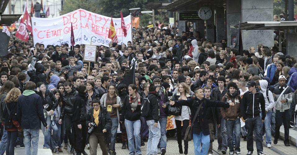 Protesto em Nantes