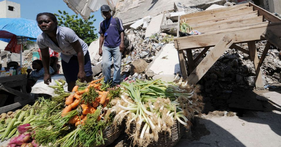 Feira no Haiti