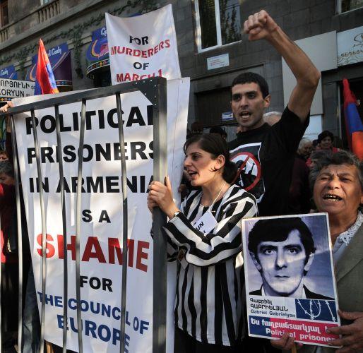 Manifestação na Armênia