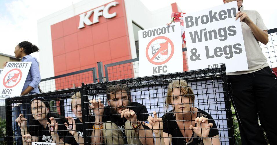 Protesto na África do Sul