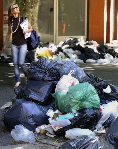 Lixo em Buenos Aires