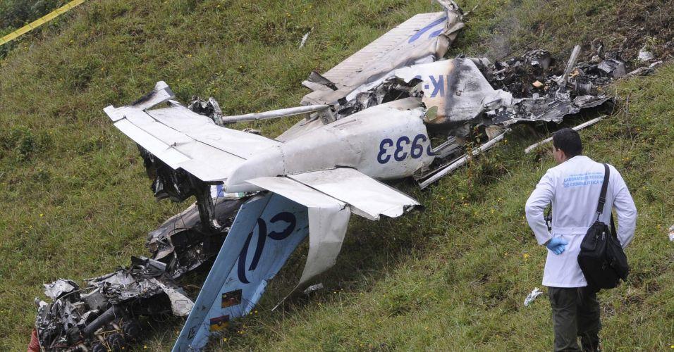 Acidente aéreo na Colômbia