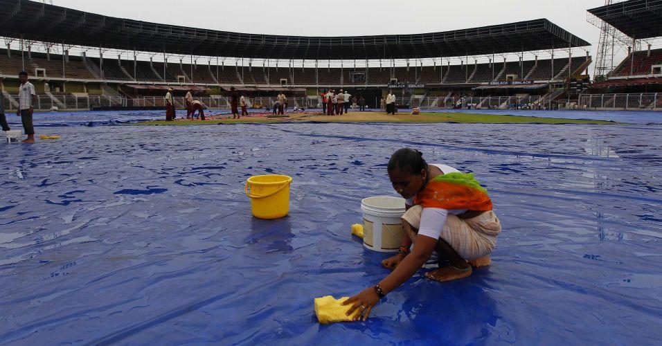 Água de chuva na Índia