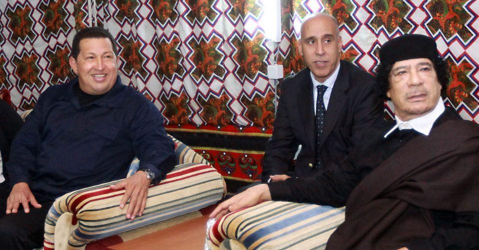 Chávez e Khadafi