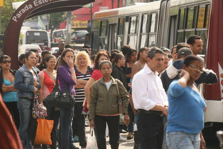 Paralisação em linha de ônibus
