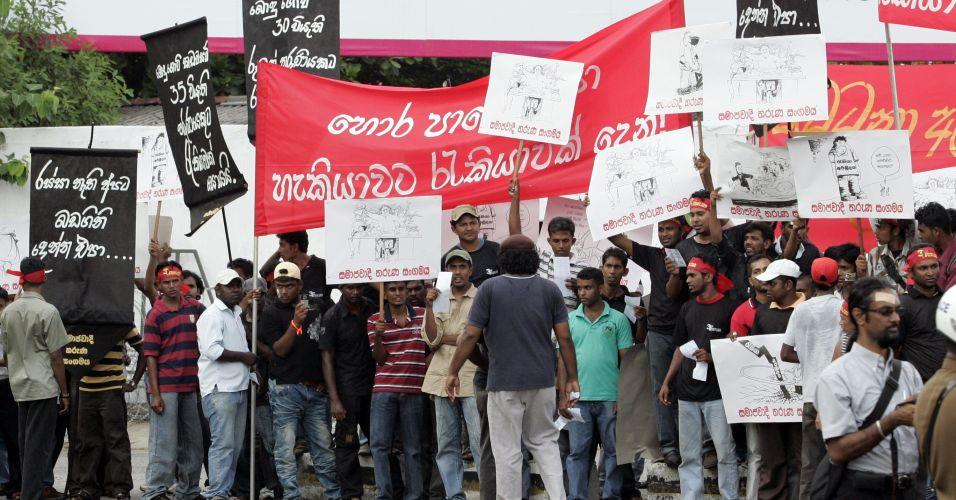 Protesto no Sri Lanka