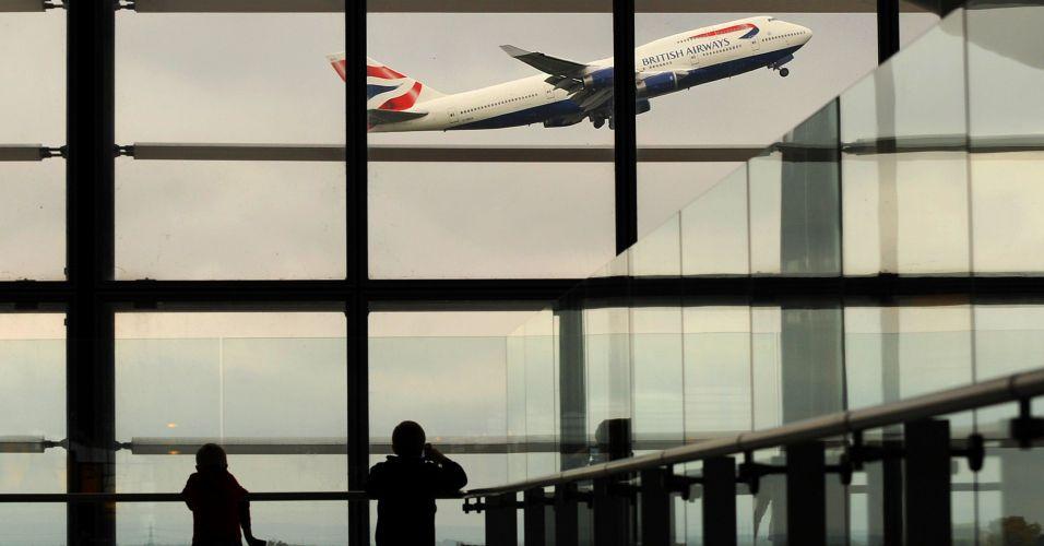 Avião em Londres