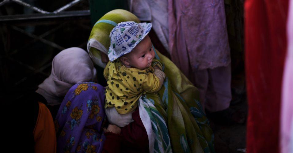 Distribuição de arroz no Paquistão